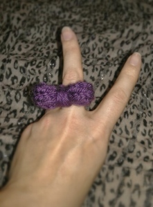 knitted bow ring 2