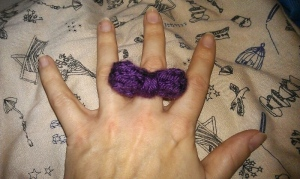 knitted bow ring1